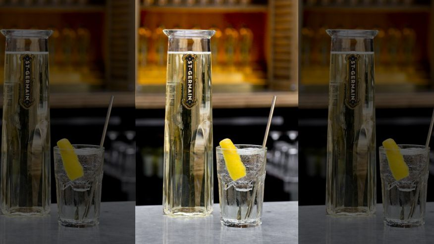 St. Germain cocktail Valentine Day Special