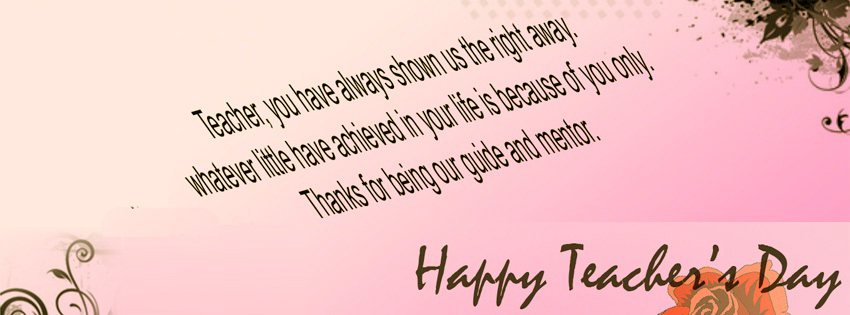 Happy Teachers Day Facebook Covers, Photos, Banners 2015 4