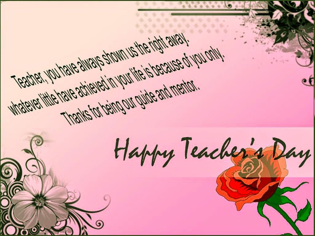 Teachers Day Greeting Card 5