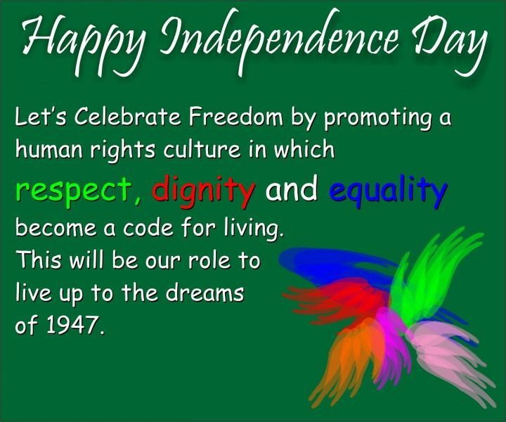 Independence Day Messages in English, Hindi,i
